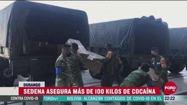 FOTO: 14 de junio 2020, aseguran 111 kilos de cocaina en durango