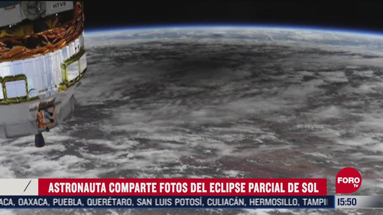 FOTO: asi se vio el eclipse parcial de sol desde el espacio