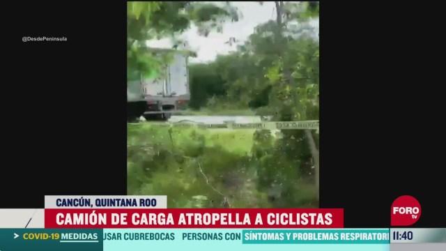 atropellan a grupo de ciclistas en cancun reportan varios heridos