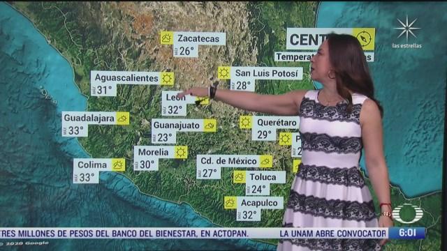 canal de baja presion provocara lluvias en el centro de mexico