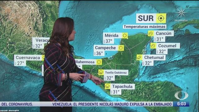 canal de baja presion provocara lluvias fuertes en gran parte de mexico