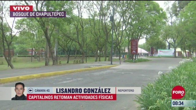 capitalinos reanudan actividades fisicas en el bosque de chapultepec