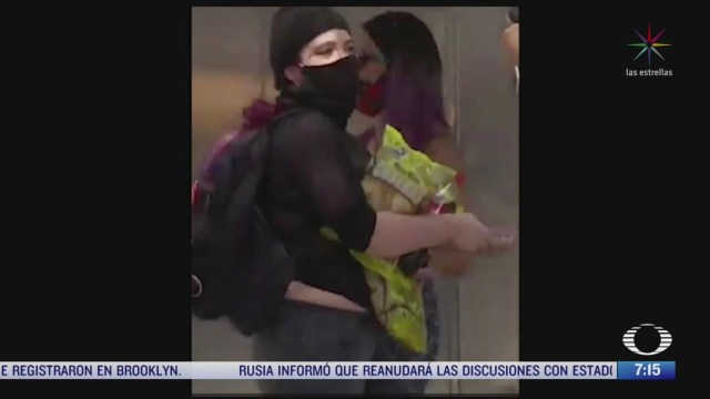 captan imagenes de robos y saqueos durante protesta en la cdmx