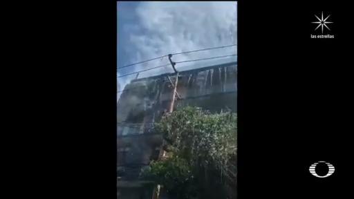 video desbordamiento alberca durante el sismo en la roma CDMX