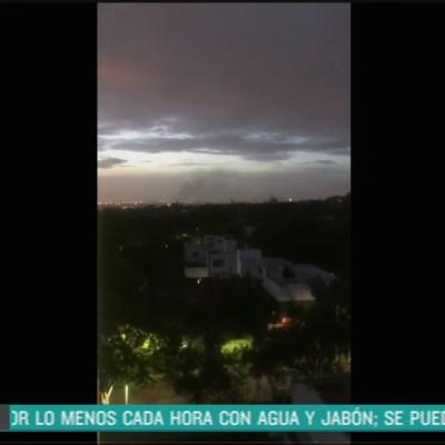 Captan momento de la balacera en Lomas de Chapultepec