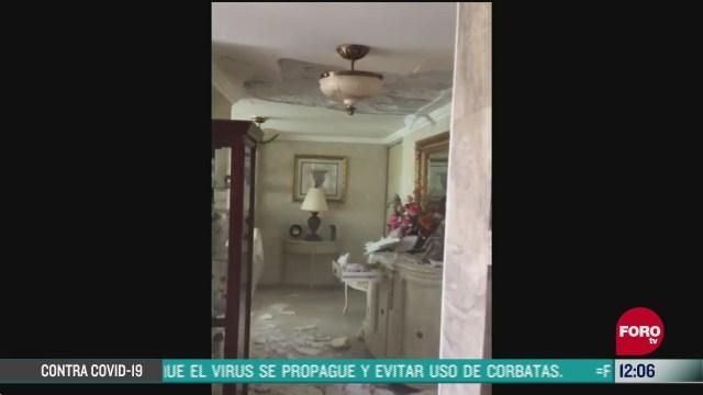 captan momento del sismo en departamento de la torre cuauhtemoc