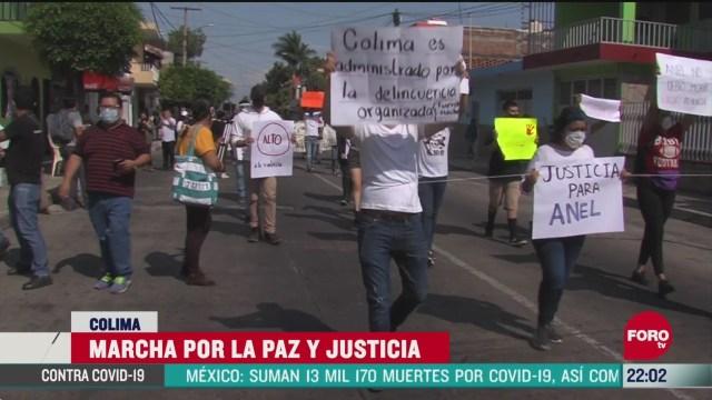 FOTO: 7 de junio 2020,cerca de 200 personas marchan por la paz en colima