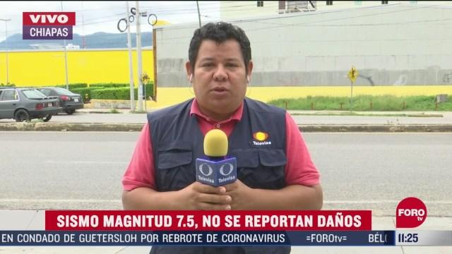 chiapas no presenta danos materiales tras sismo de oaxaca