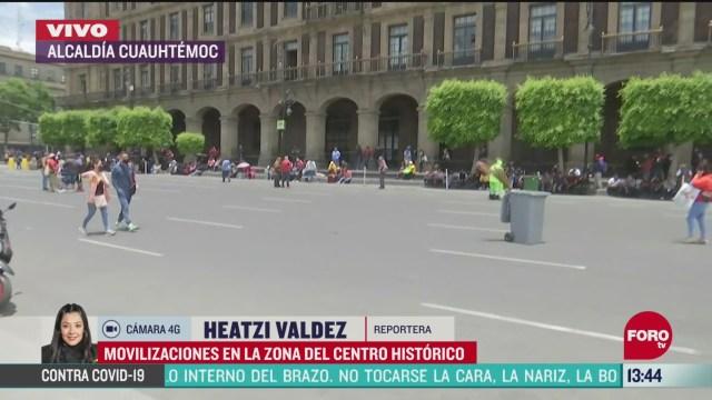 FOTO: cierre vial en el zocalo capitalino por manifestantes
