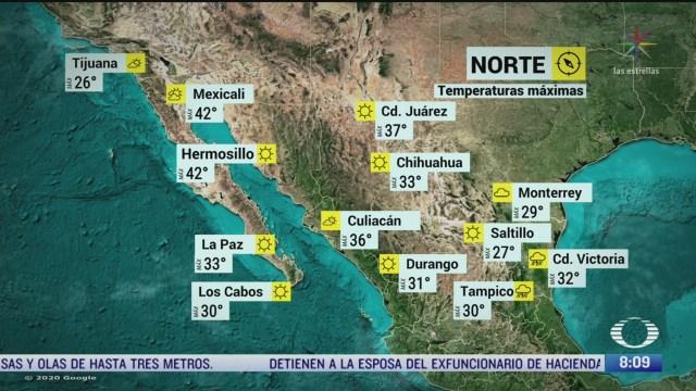clima al aire cdmx tendra 27 grado centigrados y lluvias aisladas
