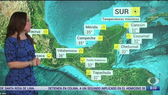 clima al aire preven lluvias y 27 grados centigrados en la cdmx