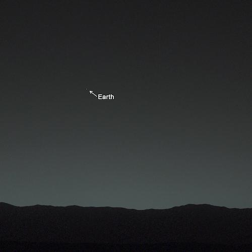 Cielo De Marte Foto De La Tierra