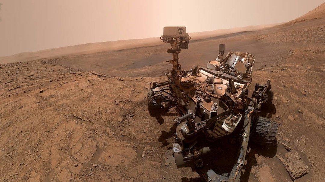Imagen Rover Curiosity En Marte NASA