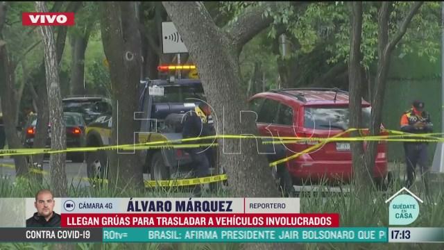 concluyen labores de peritajes en escena de atentado a garcia harfuch