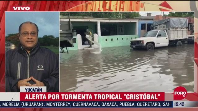 lluvias por cristobal en peninsula de yucatan