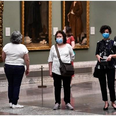 Visitantes al Museo del Padro en tiempos de COVID-19