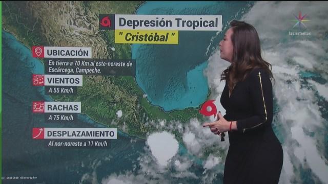 cristobal se degrada a depresion tropical se acerca a yucatan