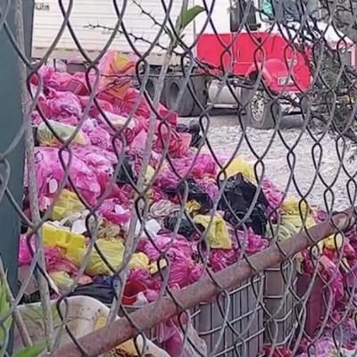 Denuncian tiradero irregular de basura COVID en Puebla
