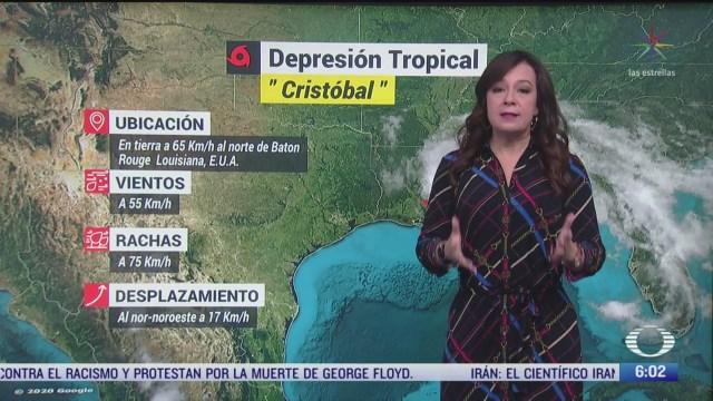 depresion tropical cristobal se encuentra al sur de estados unidos