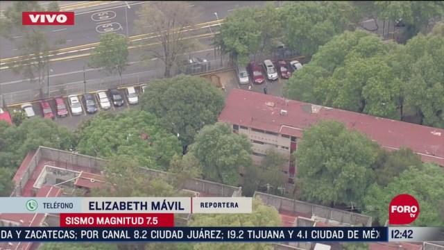 desalojan edificio en la colonia lindavista tras sismo