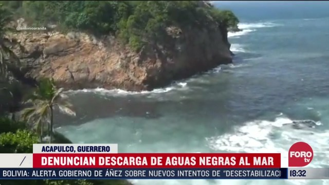 descargan otra vez aguas negras a las playas de acapulco