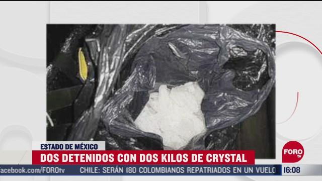 FOTO: 21 de junio 2020, detienen a dos personas con dos kilogramos de crystal