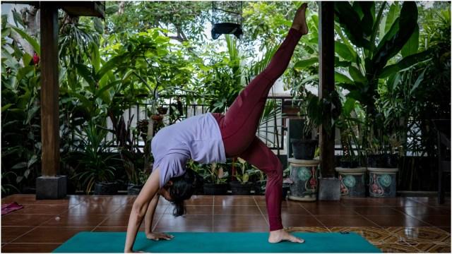 Imagen: El Día Internacional del Yoga será diferente este año por el Covid-19, 21 de junio de 2020 (Getty images)