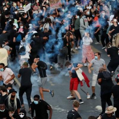 Protestas en París por muerte de joven negro a manos de la Policía en 2016. Reuters