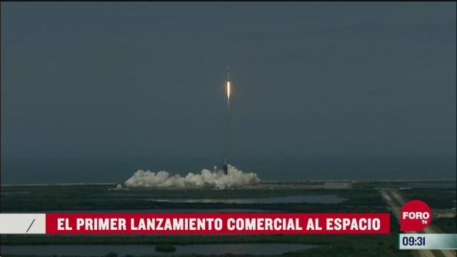 el primer lanzamiento comercial al espacio