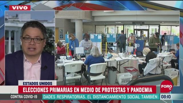 elecciones primarias se llevan a cabo en medio de protestas y pandemia en estados unidos