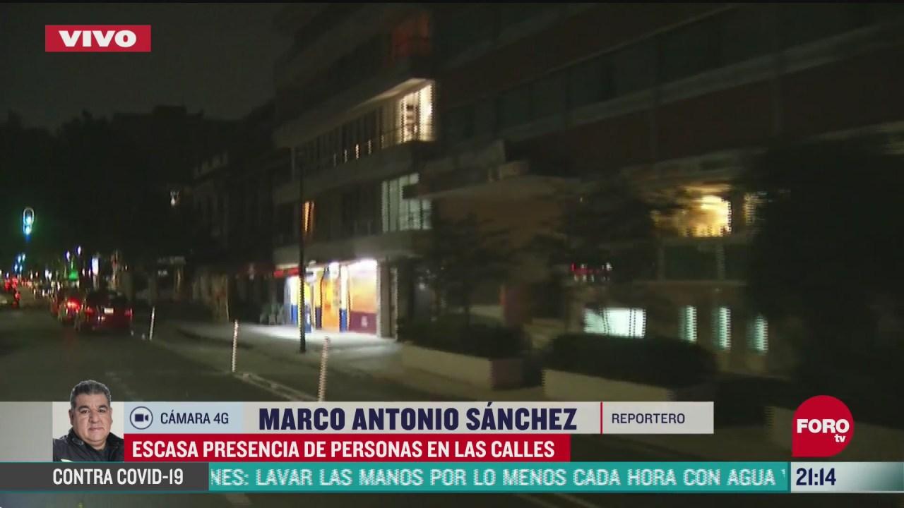 FOTO: 21 de junio 2020, escasa presencia de personas en calles de la ciudad de mexico durante la noche de domingo