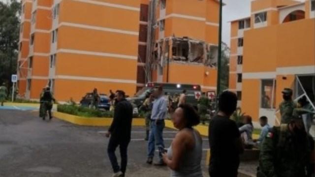 Explosión en zona militar deja 10 lesionados en Cuernavaca