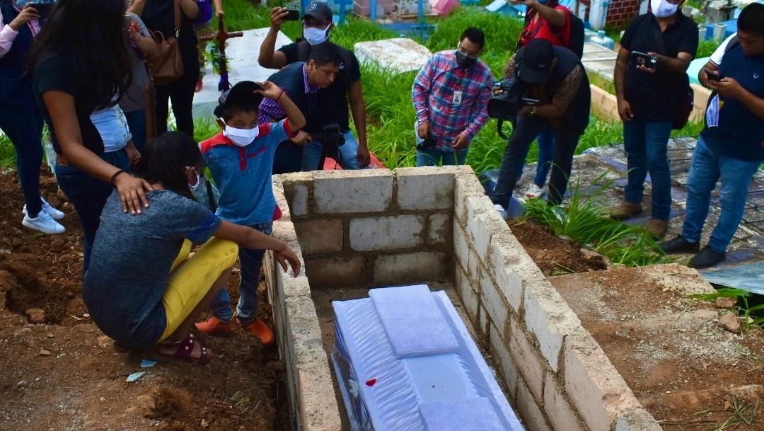 Despiden a Toñito, menor de 10 años asesinado en Acayucan