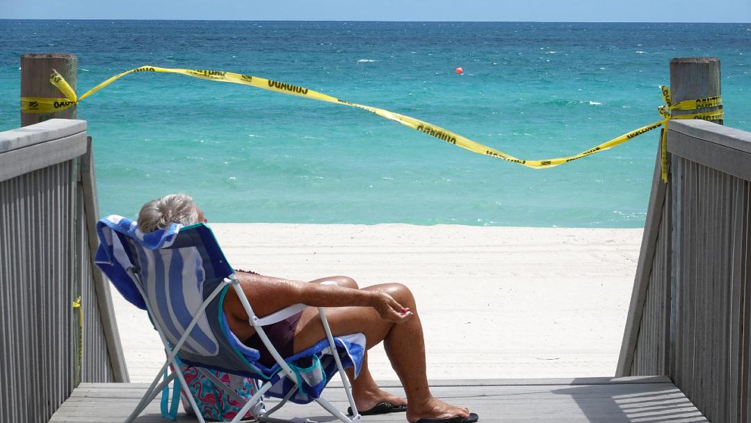 Playa en Florida, reporta nuevo récord de casos nuevos de coronavirus