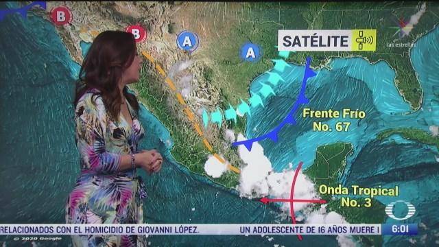 frente frio 67 provocara lluvias fuertes en el oriente de mexico