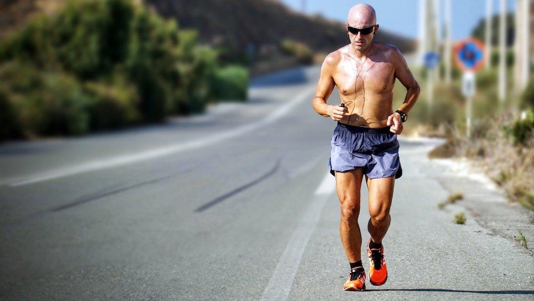 Persona haciendo ejercicio en ayunas, foto