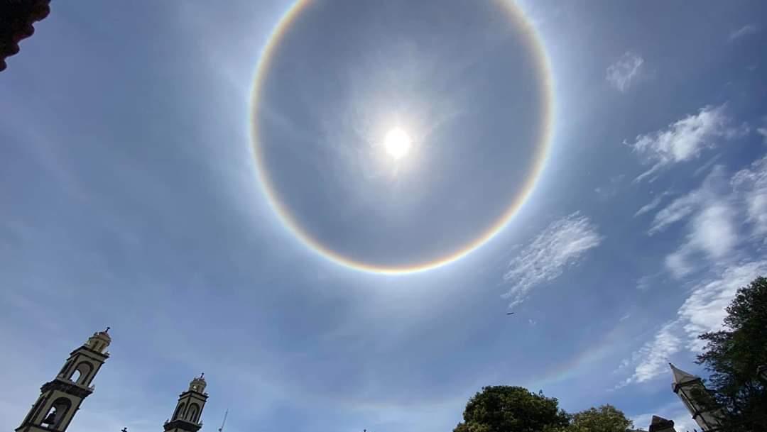 Foto Halo Solar Cielo