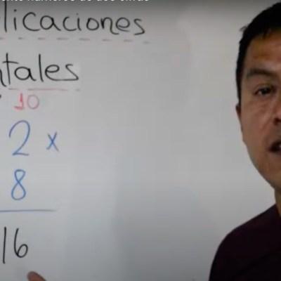 Hombre se vuelve viral por dar clases sencillas y divertidas de matemáticas en TikTok