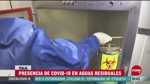 presencia de Covid-19 en aguas residuales
