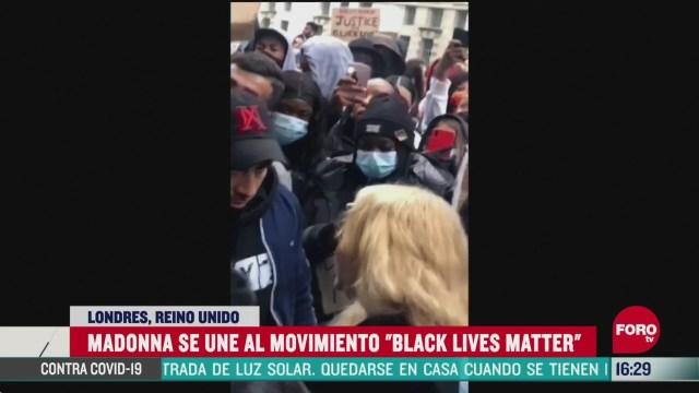 FOTO: 7 de junio 2020, madonna se suma a las protestas contra el racismo en londres