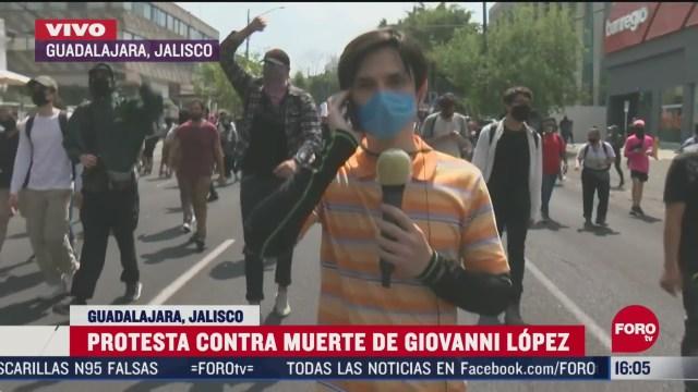 FOTO: 6 de junio 2020, manifestantes protestan en guadalajara jalisco contra el abuso policial