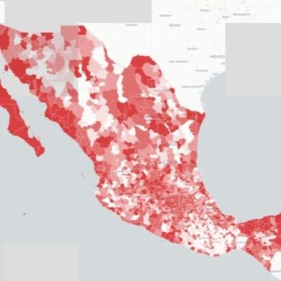 Mapa y casos de coronavirus en México del 26 de junio de 2020