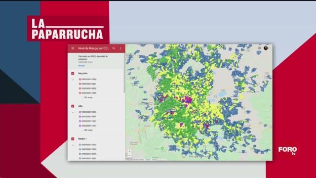 Mapa interactivo del 'Nivel de riesgo por COVID-19', la paparrucha del día