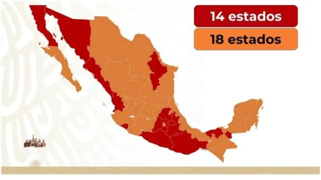 Estadios en semáforo naranja y rojo en México