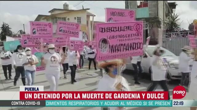 FOTO: 21 de junio 2020, marchan en puebla para exigir justicia por la muerte de gardenia y dulce