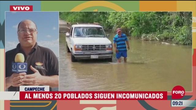 mas de 20 comunidades continuan afectadas por cristobal en campeche