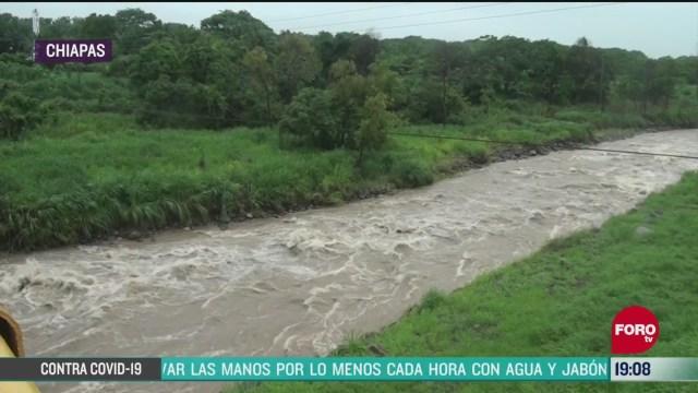 FOTO: 6 de junio 2020, mas de 30 municipios afectados en chiapas por lluvias