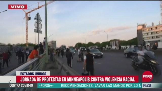 FOTO: minnesota continua con manifestaciones violentas por muerte de george floyd
