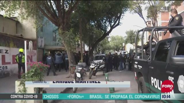 movilizacion policiaca por rina en la colonia doctores de la cdmx
