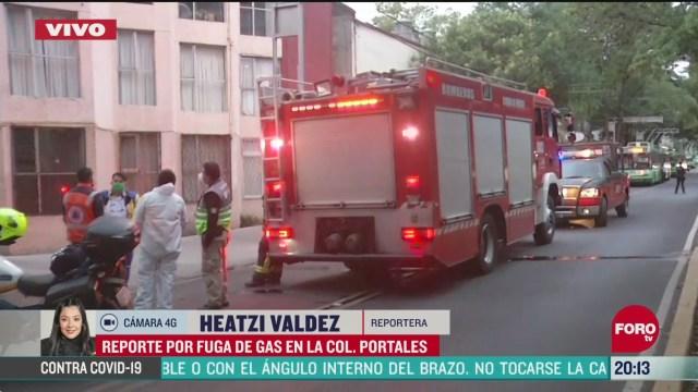 movilizacion por fuga de gas en la colonia portales cdmx